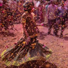Photo by In northern India's holy town of Vrindavan, the streets were full of color last weekend for Krishna Janmashtami, an…