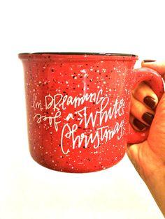 I'm Dreaming of a White Christmas, 15 oz Campfire Stoneware Speckled Mug