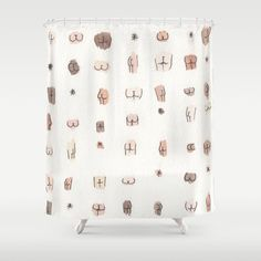 Buy butts Shower Curtain by juliaheffernan. Worldwide shipping available at Society6.com. Just one of millions of high quality products available.