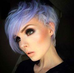 Stylish Short Shaggy Pixie Cut Pastel