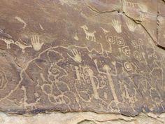 Anasazi petroglyphs at Petroglyph Point, Mesa Verde National Park