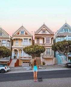 Painted Ladies, San Francisco by howfarfromhome San Francisco Sites, San Francisco Travel, San Francisco California, San Francisco Bay, San Francisco Houses, West Coast Road Trip, Road Trip Usa, Pier Santa Monica, Porto Rico