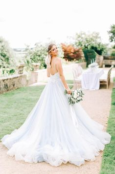 Romantic Wedding Makeup, Ethereal Wedding, Magical Wedding, Wedding Bride, Wedding Ideas, Romantic Weddings, Pastel Wedding Dresses, Pastel Blue Wedding, Bridal Dresses