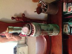 Old wine bottle used for jewelry holder!