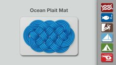 Ocean Plait Mat Knot - Learn how to tie the Ocean Plait Mat in a simple step-by-step video.   By AnimatedKnots.com - the world's #1 knot site.