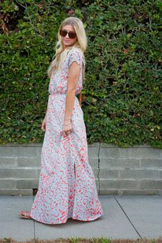 Elle Apparel: PATTERN PLAY // SIDE SLIT MAXI DRESS TUTORIAL