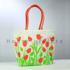 Price INR: 165/- Jute Bag Jute Bags Manufacturers, Tulips Flowers, Fashion Hub, Online Shopping Sites, Womens Fashion Online, Reusable Tote Bags