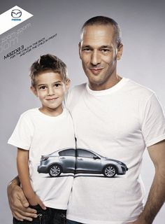 """I chose this photo because even though this is an advertisement for Mazda, it still has a """"Family oriented"""" type appeal to it. I can relate because my mother and I have Mazdas."""