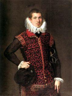Portrait of a Young Man, by Federico Barocci (Il Baroccio), perhaps c. 1580-90 but possibly slightly later, ca. 1600