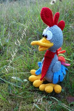 Crochet Pattern Rooster Easter Chickens Pedro, amigurumi toy, PDF Pattern, crochet bird #easter #rooster #crochetpattern