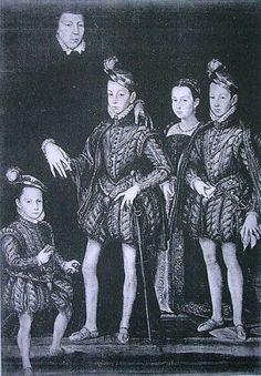 Renaissance costume, Catherine de Medicis and her children