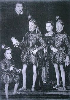 Renaissance costume, Catherine de Medicis and her children