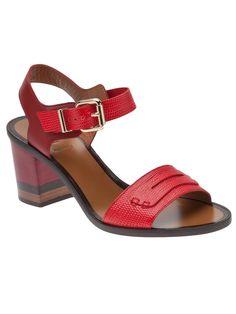 Designer Sandals for Women Red Block Heel Sandals, Fashion Sandals, Women's Shoes Sandals, Leather Sandals, Pretty Shoes, Cute Shoes, Me Too Shoes, Diamond Shoes, Gorgeous Heels