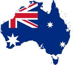 Australia stub (map outline of Australia containing flag of Australia)