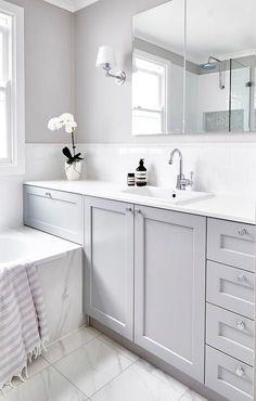 grey bathroom cabinets LOVE