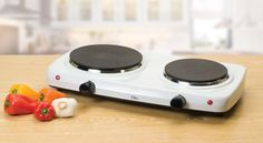 Portable Stove Top 2 Burner Electric Cooktop	 Double Hot Plate Dual Top Compact…