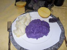 Purè di patate Vitelotte Lady Viola e patate gialle