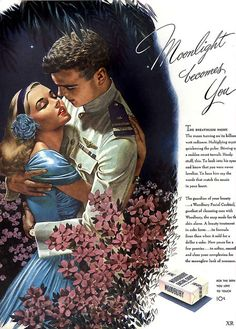 A beautiful and very romantic ad for Woodbury Soap from 1944