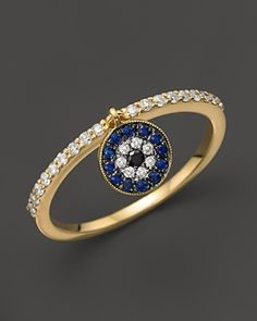 Meira T Sapphire and Diamond Ring in 14K Yellow Gold | Bloomingdale's