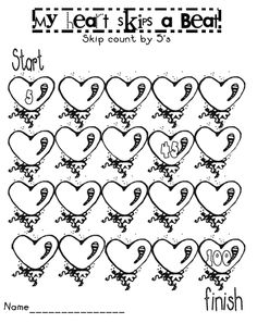 Valentine's Day themed worksheets that include 3-digit