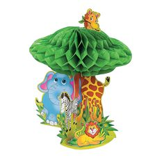 Make any room a jungle with the cute Zoo Animal Cutouts! They're party supplies that will turn birthday or school parties into a menagerie of fun. Safari Centerpieces, Baby Shower Centerpieces, Party Favor Bags, Goodie Bags, Zoo Animal Party, Animal Cutouts, Baby First Birthday, Zoo Birthday, Birthday Parties