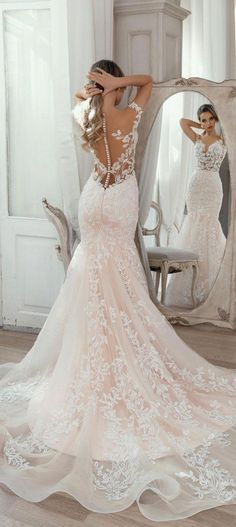 Fall Wedding Outfits, Wedding Dresses For Girls, Wedding Dress Trends, Sexy Wedding Dresses, Bridal Dresses, Wedding Gowns, Prom Gowns, Wedding Ideas, Backless Wedding