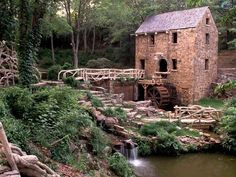 "Watermill <--- ""the Old Mill"" located in North Little Rock. Used in the movie version of Gone with the Wind"