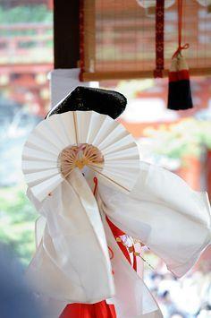 geiko Hisano performing at Gion Matsuri, Japan