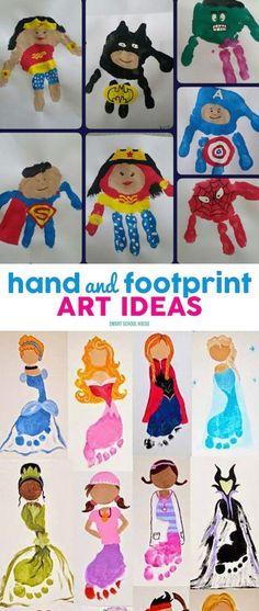 Superhelden-Hände und -Füße
