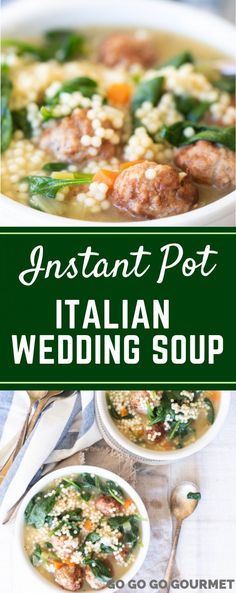 Instant Pot Italian Wedding Soup is one of the best soup recipes! Made supe. This Instant Pot Italian Wedding Soup is one of the best soup recipes! Made supe. This Instant Pot Italian Wedding Soup is one of the best soup recipes! Made supe. Instant Pot Pressure Cooker, Pressure Cooker Recipes, Best Soup Recipes, Healthy Recipes, One Pot Recipes, Easy Italian Recipes, Instapot Soup Recipes, Healthy Food, Dinner Healthy