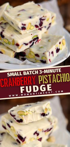 This recipe will be your go-to when you need a quick and easy addition to your dessert table! Small Batch Cranberry Pistachio Fudge can be ready in 3 minutes. With just 5 ingredients, you can have a festive no-bake treat or hostess gift for Thanksgiving or Christmas!
