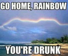 What did that rainbow drink?!
