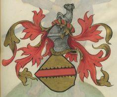 Armorial de la Table ronde.  Date d'édition :  1490-1500  Ms-4976  Folio 87r