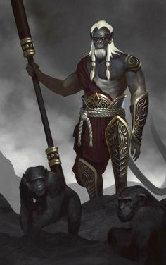 Monkey King - Sun Wukong by QuinnSimoes Fantasy Races, Fantasy Warrior, Orisha, Black Characters, Fantasy Characters, Fantasy Inspiration, Character Inspiration, Fantasy Character Design, Character Art
