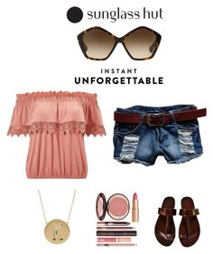 """Shades of You: Sunglass Hut Contest Entry"" by im-karla-with-a-k on Polyvore featuring Miss Selfridge, Miu Miu, Jennifer Meyer Jewelry and shadesofyou"