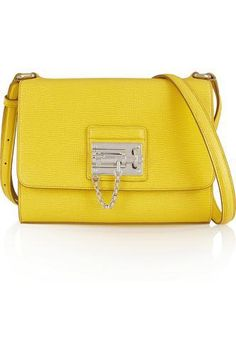 Que hermosa bolsita Monica medium textured-leather shoulder bag #shoulderbag #women #covetme #dolce&gabbana