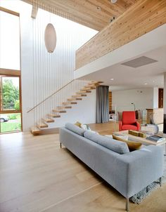 Modern House Design with Warm Wooden Interiors and Modernist Feel Modern Wooden House, Wooden House Design, House Design Photos, Modern Homes For Sale, Modern Style Homes, Modern Architecture House, Interior Architecture, Commercial Architecture, Kb Homes