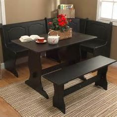 White Kitchen Dining Room Wood Corner Breakfast Nook Table Bench Chair |  Diseño.  Salas, Salones, Salitas. | Pinterest | Dining Table Online, Corner  ...