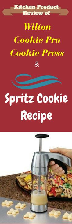 Kitchen Product Review of Wilton Cookie Press & Spritz Cookie Recipe - Pin this image so you can refer to it later
