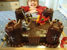 knights castle cake - Google Search