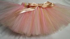Pink White Gold Tutu infant tutu baby tutu newborn by JustTutus