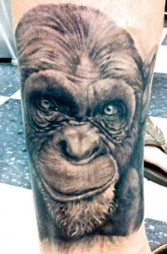 aae77cf29 3D monkey Tattoo #Tattoo, #Tattooed, #Tattoos Monkey Tattoos, 3d Tattoos