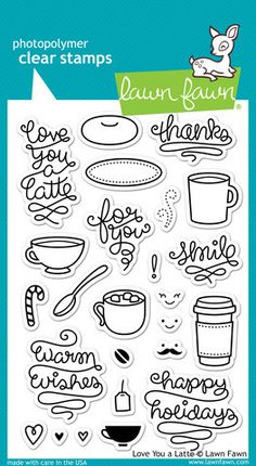 ScrapbookPal.com - Lawn Fawn Clear Stamps - Love You a Latte, $12.00 (http://www.scrapbookpal.com/lawn-fawn-clear-stamps-love-you-a-latte/)