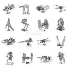 US $2.54 3D Metal Puzzle of Star Wars Assemble Miniature 3D Building Model Kits From Laser Cut Metal Sheets for Kids Educational Toys. Aliexpress product