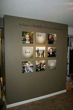 Family wall callage