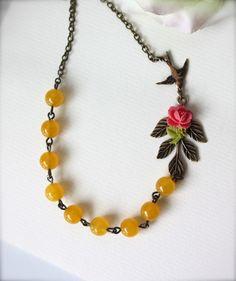 Dream Garden Necklace by Marolsha. So pretty!