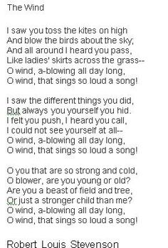 fav childhood poem, The Wind by Robert Louis Stevenson Rhymes For Kids, Children Rhymes, Children Stories, Literature Books, English Literature, Childhood Poem, Poetry Classes, Lessons Learned In Life Quotes, Frases