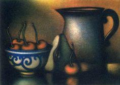 """Le Broc"". Color mezzotint. Laurent Schkolnyk"