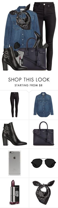 """Untitled #3504"" by monmondefou ❤ liked on Polyvore featuring Yves Saint Laurent, Incase, 3.1 Phillip Lim, Alexander McQueen, black and denim"