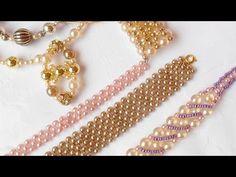 comment faire un bracelet macramé manchette en perles DIY (easy macrame bracelet with beads) - YouTube
